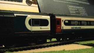 Hornby Class 43 HST East Midland Trains Full Rake (OO Gauge) Test (Weak Controller) HD