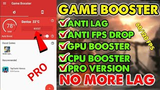 NEW GAME BOOSTER PLAY FASTER AND SMOOTHER | ANTI LAG | FPS 60/120 STABLE | SUPPORT ANDROID 5 screenshot 1