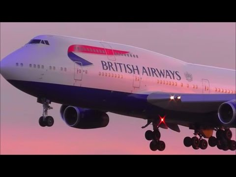 Sunset Heavies at London Heathrow Airport, LHR | Over 30 Minutes! |  20/04/16