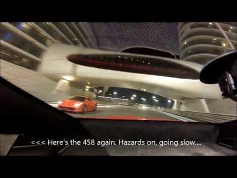 YAS Marina Abu Dhabi F1 Circuit Track Day Run On Board Porsche 911 GoPro Hero3 Silver Rear View HD