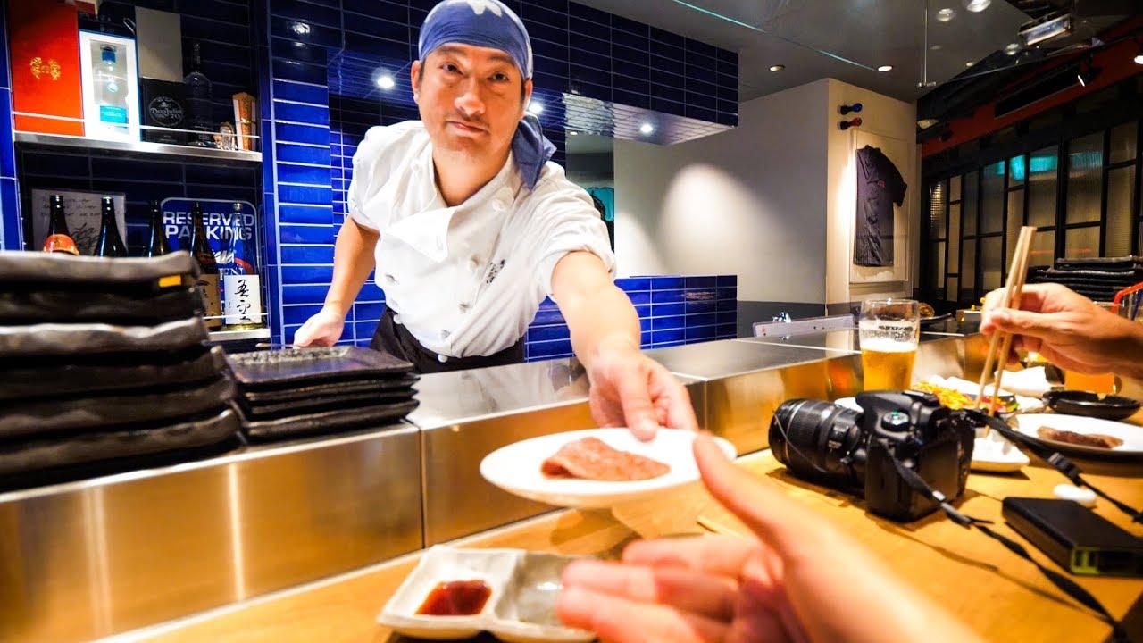 Japanese Food -  Yakiniku BBQ and DEEP FRIED WAGYU BEEF Sandwich at Nakahara, Tokyo, Japan!