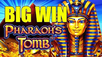 ONLINE CASINO Pharaoh's Tomb Big Win - mega win - (betsize example 2 euro bet) - Epic reactions