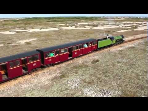 Steam train to Dungeness lighthouse