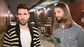 54th GRAMMY Awards - Maroon 5 Rehearsals Interview