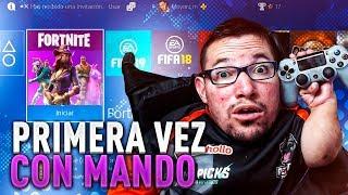 MI PRIMERA VEZ A FORTNITE EN PS4 CON MANDO!