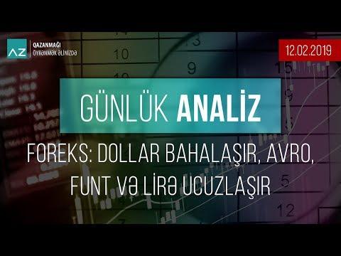 Foreks: Dollar bahalaşır, Avro, funt və lirə ucuzlaşır | 12.02.2019-Günlük analiz
