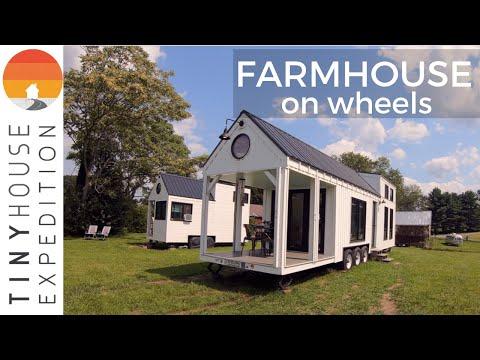 Family Builds Amazing 36' Tiny House, a Farmhouse on Wheels