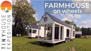 Family Builds Amazing 36' Tiny House, A Farmhouse On Wheels