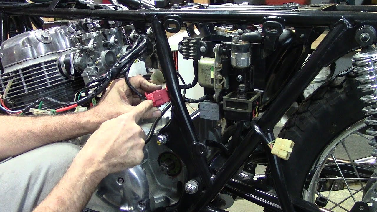 73 honda cb750 custom build part 31 wiring harness youtubee honda cb 350 wiring diagram  [ 1280 x 720 Pixel ]