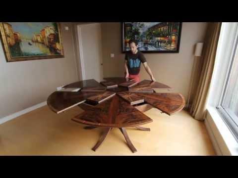 Expanding Circular Dining Table in Walnut