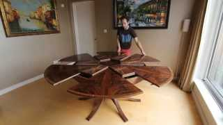Expanding Circular Dining Table in Walnut thumbnail