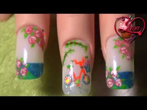 Decoraciones de u as de una hermosa bici yana nail art - Decorador de unas ...
