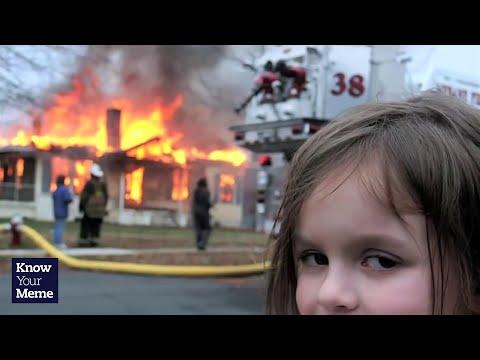 burning house girl mem