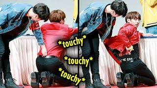 BTS being touchy with each other 來