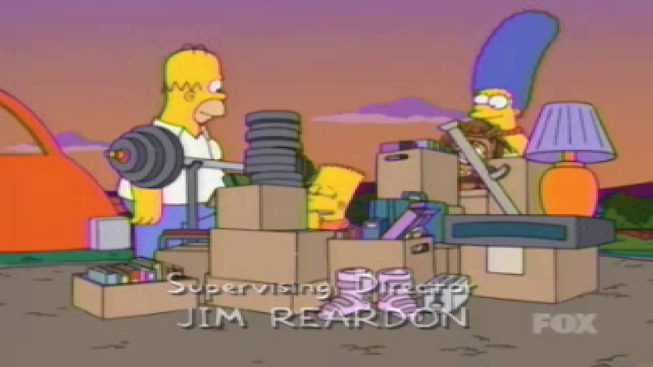 The Simpsons Go To a Garage Sale