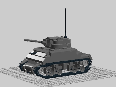 How To Make A Lego M4 Sherman Instructions Youtube