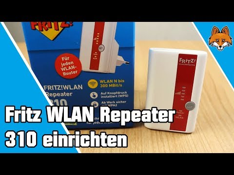 fritz wlan repeater 310 einrichten wlan verbessern youtube. Black Bedroom Furniture Sets. Home Design Ideas