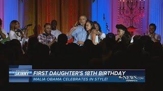 Video Obama Sings for Daughter Malia's Birthday download MP3, 3GP, MP4, WEBM, AVI, FLV Juli 2018