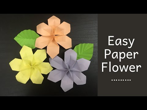 DIY- paper flower/ flower making tutorial step by step/ new flower making 2019 craft