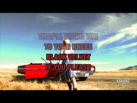 Black Velvet in the style of Robin Lee | Karaoke with Lyrics