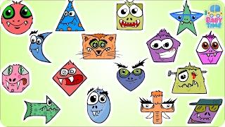 Хэллоуин Форма | Формы обучения для детей | Формы песни | Страшные Хэллоуин видео для детей