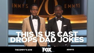 The Emmy's 2018 | Sterling K. Brown & Ron Cephas Jones Drop Some Dad Jokes | FOX