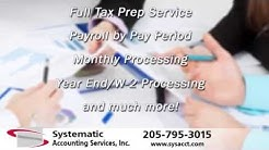 Systematic Accounting Services | Bookkeeping-Payroll Processing-Tax Prep Services in Birmingham, AL