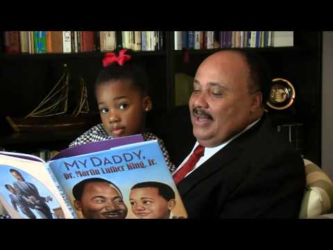 Martin Luther King III reads new book to his daughter