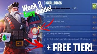 Fortnite SEASON 7 WEEK 3 CHALLENGES GUIDE + FREE TIER / BANNER!