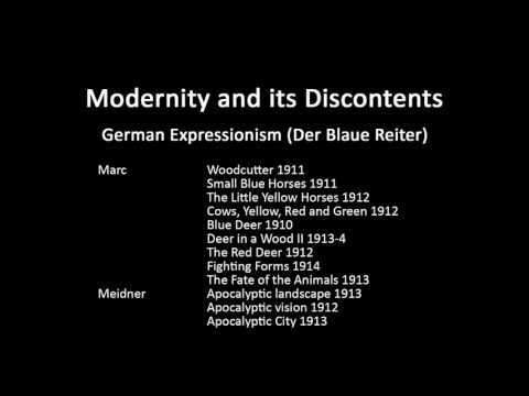 A history of modern art in 73 lectures: lecture 41 (Die Brucke and Der Blaue Reiter)