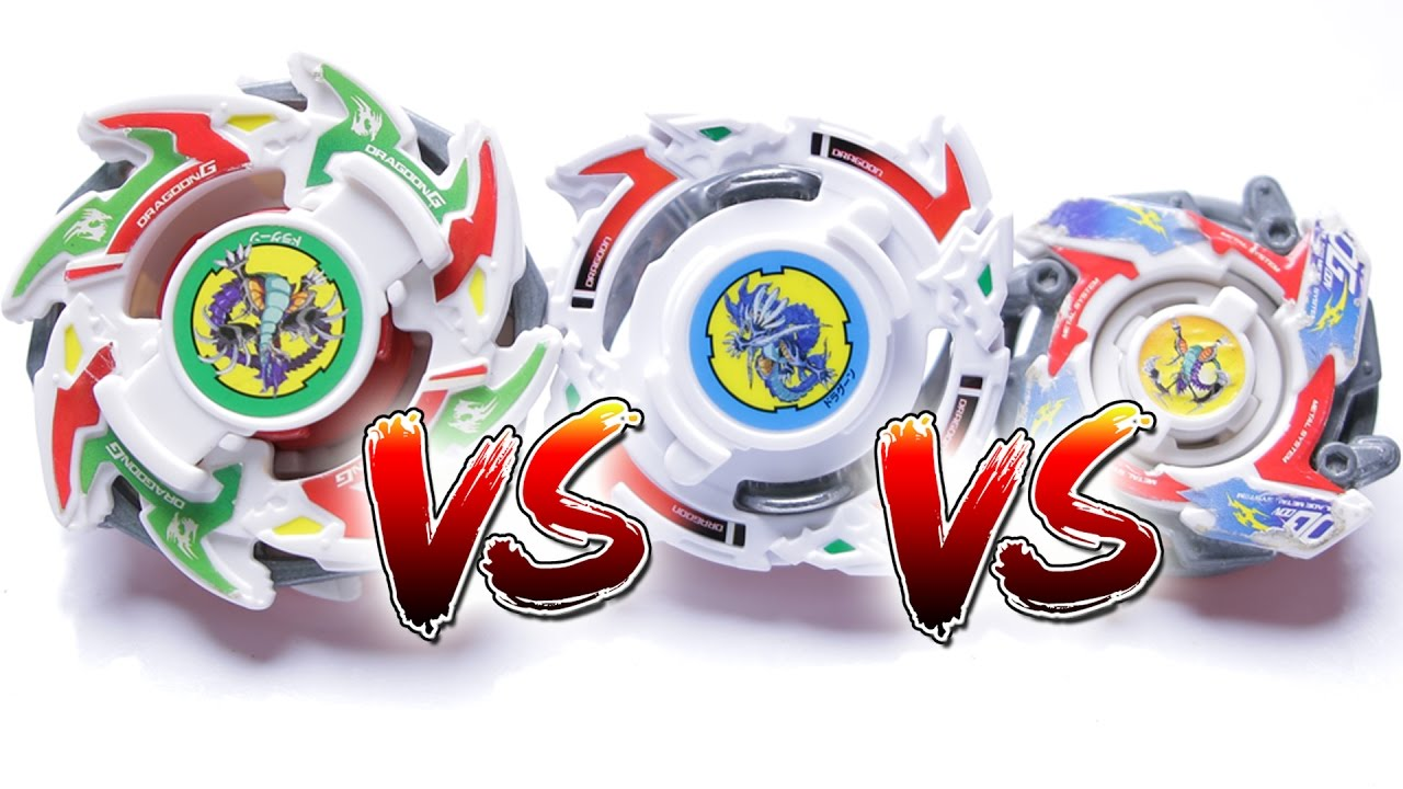 Beyblade Battle Dragoon G Plastic Vs Dragoon Storm Burst Vs