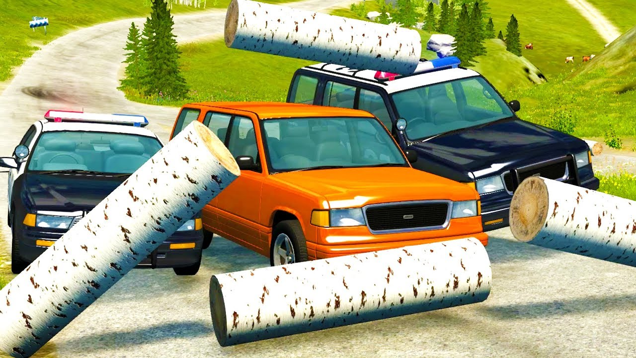OFF ROAD POLICE CHASES GONE HORRIBLY WRONG! - BeamNG Drive Crash Test Compilation Gameplay
