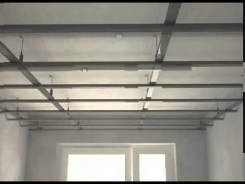 видео: Монтаж профиля и гипсокартона на потолок своими руками