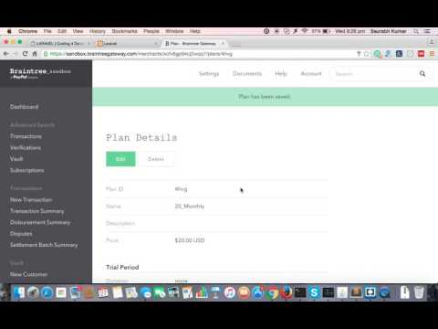 braintree payment gateway integration in laravel