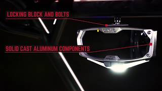 Halo-RA LED Rearview Mirror with Dual Intensity Map and RGB Accent Cab Lights