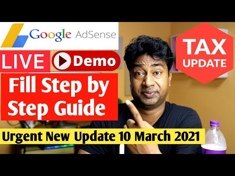 How to submit TAX Information form  in Google Adsense for Youtube 2021
