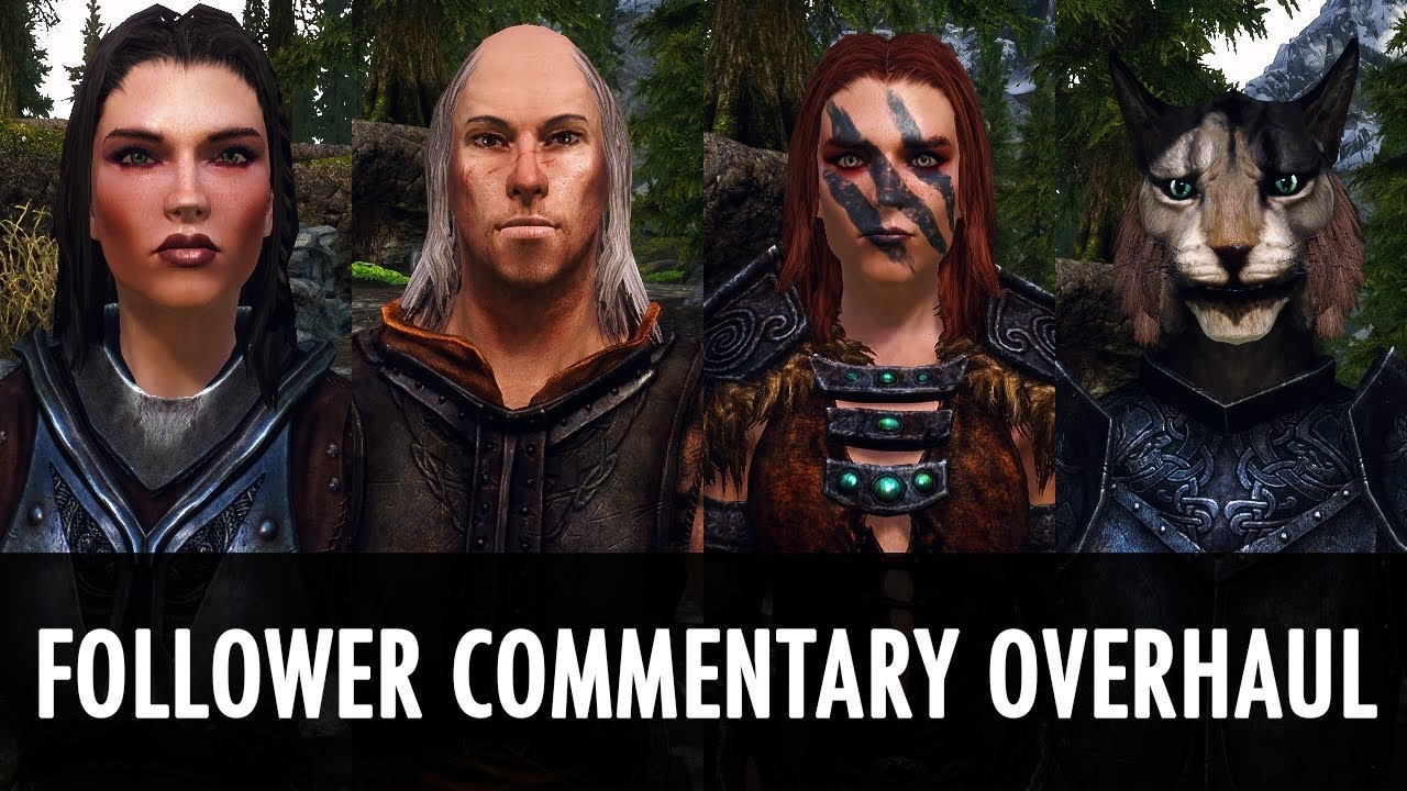 Skyrim Mod Follower Commentary Overhaul Youtube