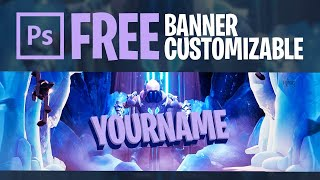 Banner Youtube Fortnite - Gratis y Customizable