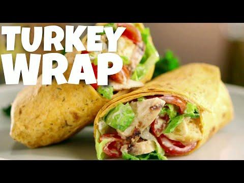 Healthy Wrap Recipe – turkey wraps – turkey meat – ground turkey – tortilla