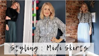 Download How To Wear Midi Skirts | Styling Skirts For Winter 2018 Mp3 and Videos