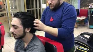 ASMR= young male massage=head massage for long hair=genç erkek masajı=uzun saçlı erkeğe kafa masaj'ı