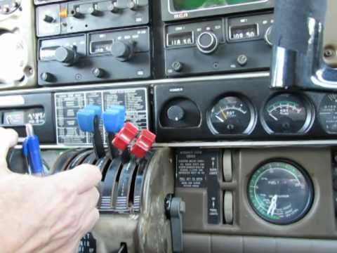 Fuel flows on engines starting, Piper Seneca II PA-34-200T