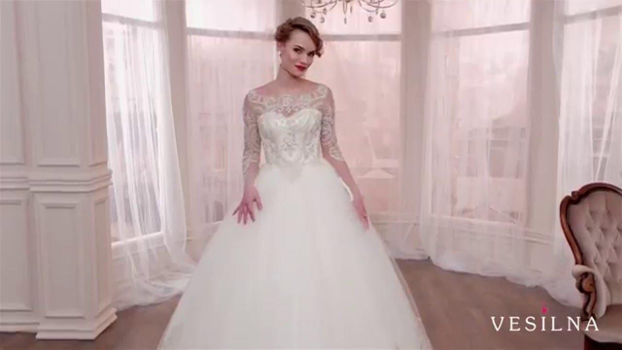 6509b31e8a71edf Пышное свадебное платье 2016 года от VESILNA™ модель 3003 - YouTube