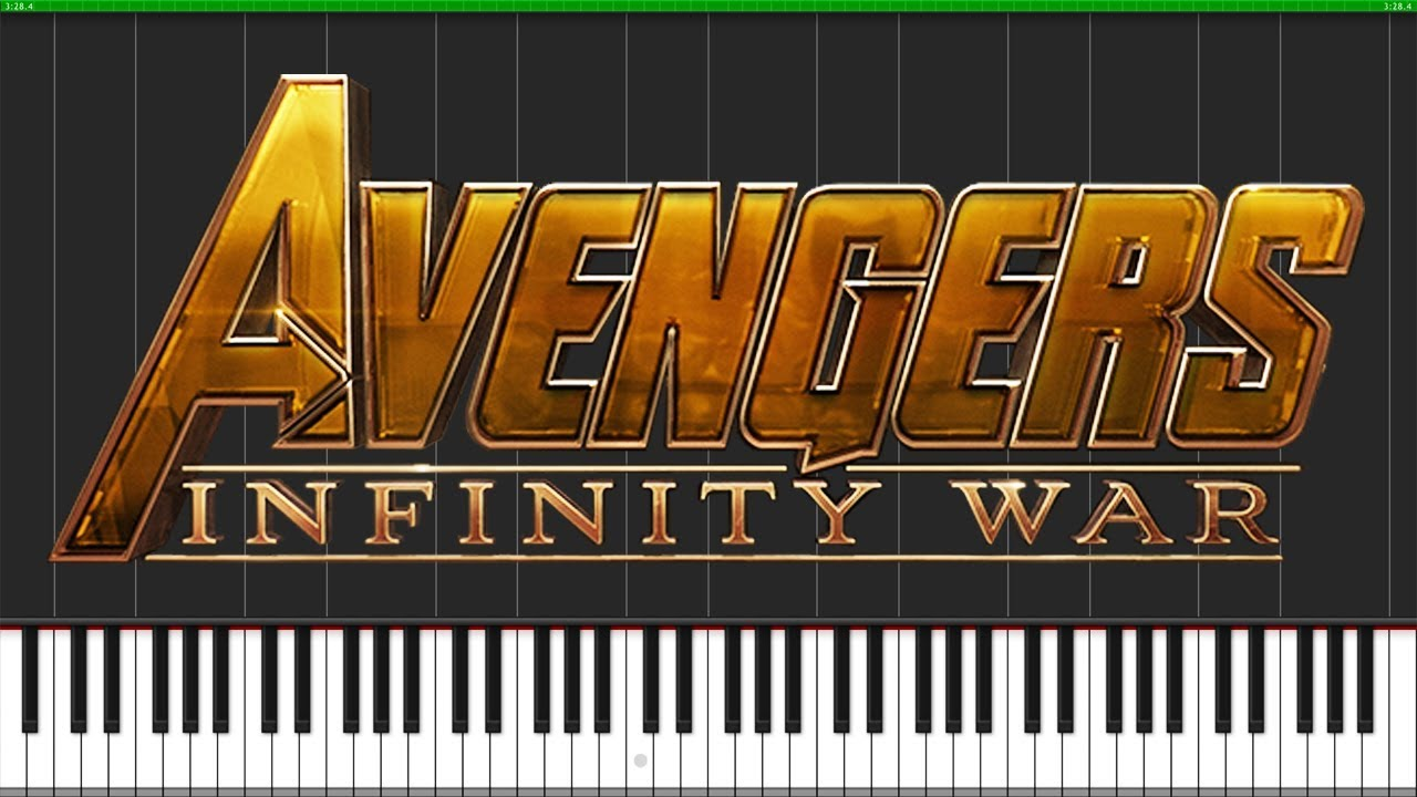 Trailer Music - Avengers: Infinity War [Piano Tutorial] (Synthesia) //  ThePaladinHelm