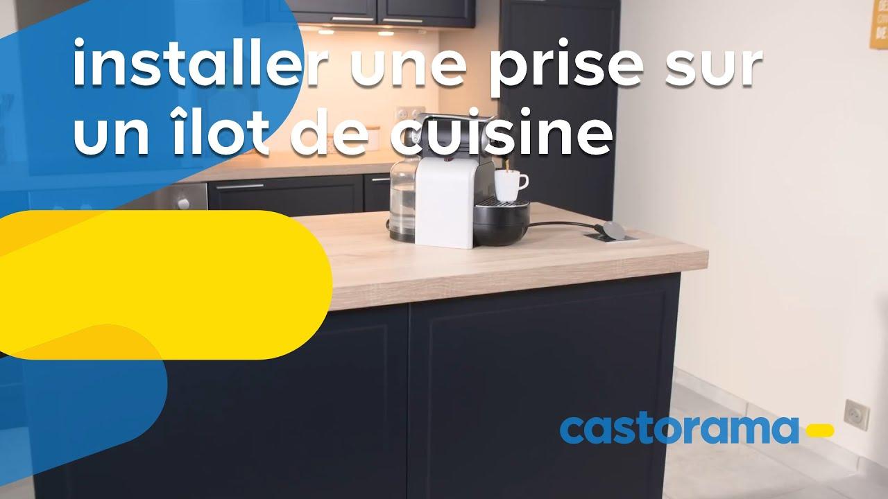 Comment Installer Une Prise Encastrable Sur Un Ilot De Cuisine Castorama Youtube