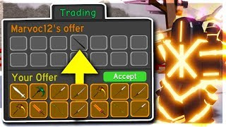 Trading my ENTIRE legendary inventory for FREE in dungeon quest... (Roblox)