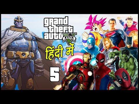 GTA 5 - Avengers: Infinity War - Part 5 - Final Battle Against Thanos | Hitesh KS