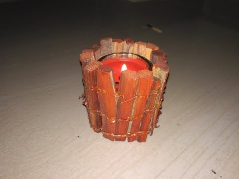 DIY Wood Candle Holders