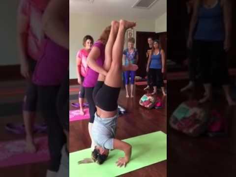 bhumi's yoga headstand shirshasana assist with melissa