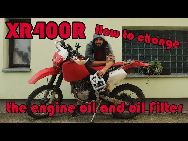 🔧 XR400 - How to change the engine oil and oil filter? (oil dry sump)